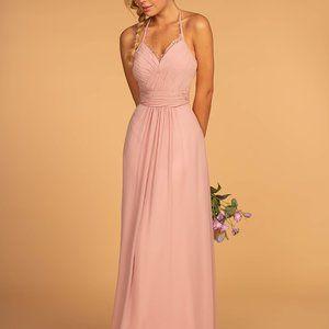 Halter Neck Chiffon Long Dress GSGL2606